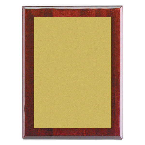"""Custom Piano Wood (R) Wall Plaque with Gold/Silver Plate, 7"""" x 9"""""""