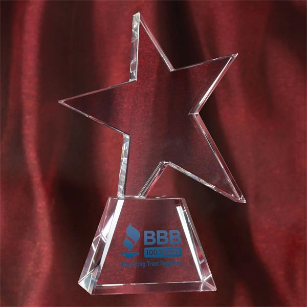 Personalized Crystal Star Trophy