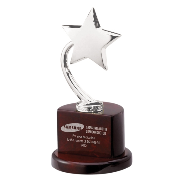 Imprinted Silver Flying Star Award