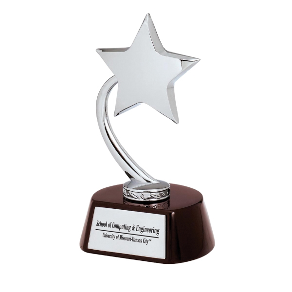 Personalized Silver Flying Star Award