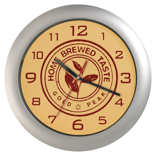 Custom Silver Wall Clock