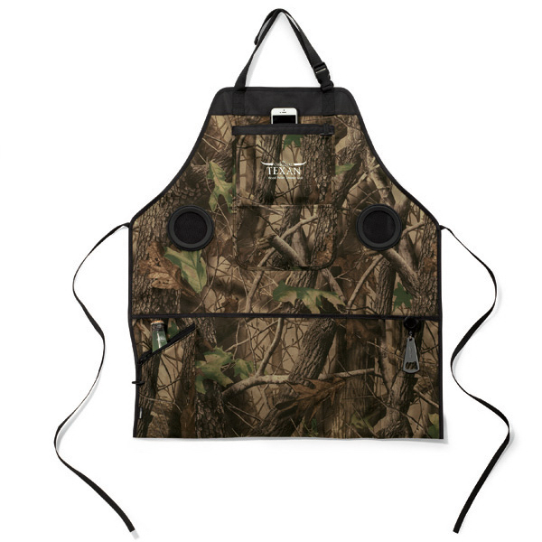 Imprinted Grill & Groove Camo Apron with Speakers