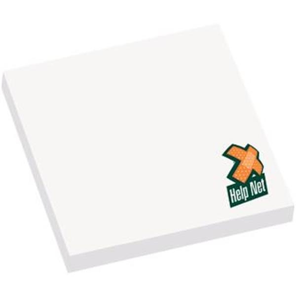 "Printed 3"" x 3"" Adhesive Notepad - 50 Sheets"