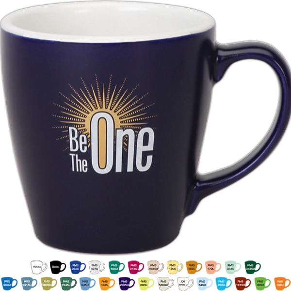 Promotional 14 oz GI Ceramic Mug - Matte/Gloss Color