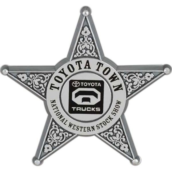 Personalized Five point star badge