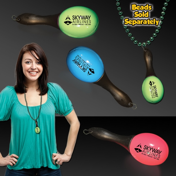 """Customized 4 3/4"""" Junior Maracas with attached J-Hook medallion"""