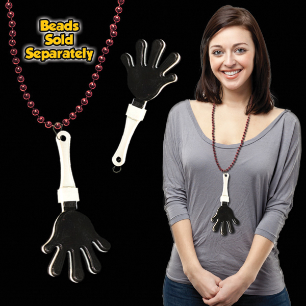 Customized Black & White Hand Clapper with attached j-hook