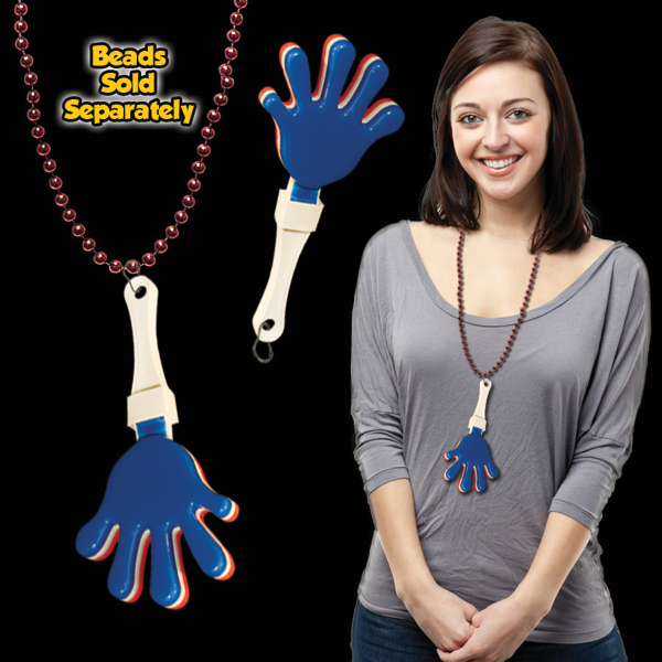 Promotional Red, White & Blue Hand Clapper with attached j-hook