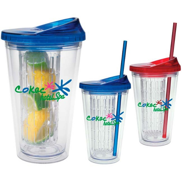 Imprinted Fruit Infusion Tumbler - 18 oz