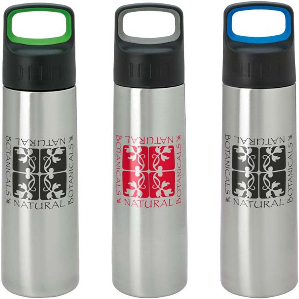 Printed Modern Bottle with Large Handle - 26 oz