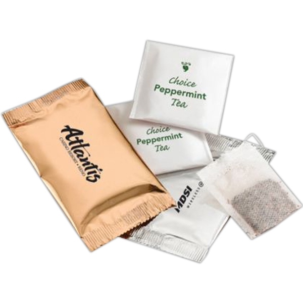 Personalized Header Bag with Tea Bags
