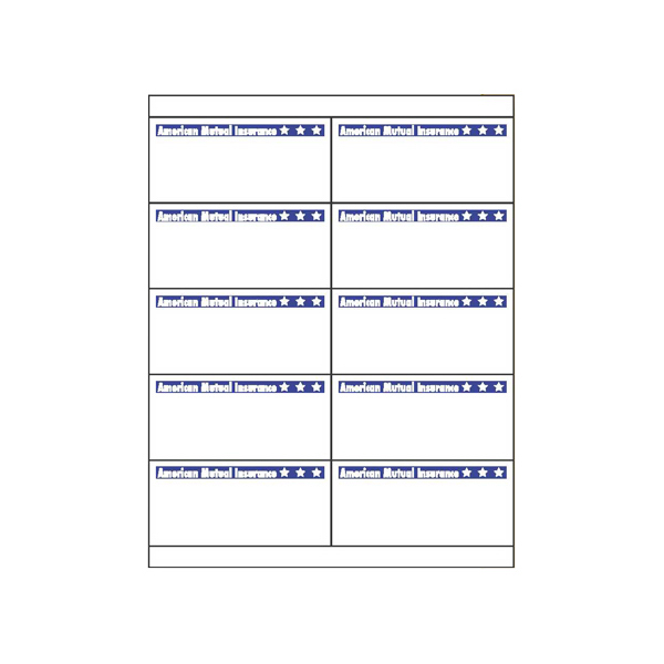 Imprinted Custom Laser Label Sheets