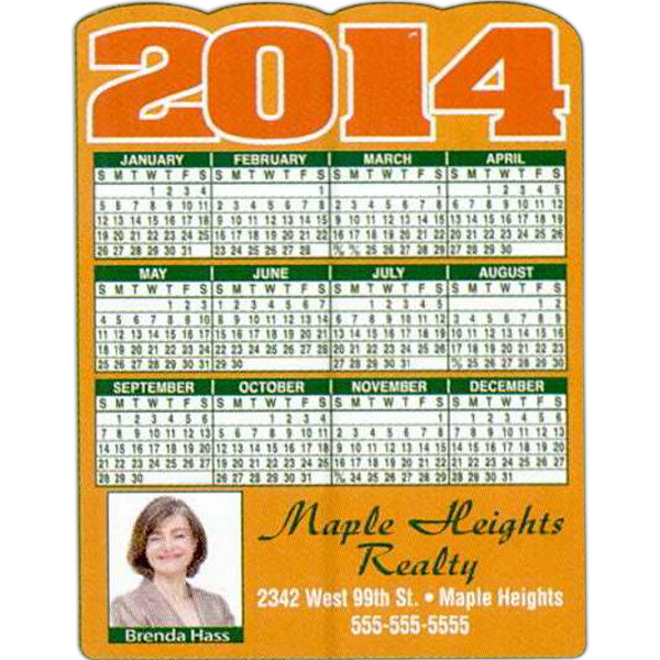 Custom Full-Color Calendar Magnet
