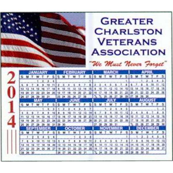 Imprinted Full-Color Calendar Magnet