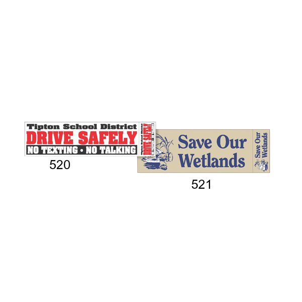 Promotional Face-Slit Vinyl Bumper Sticker