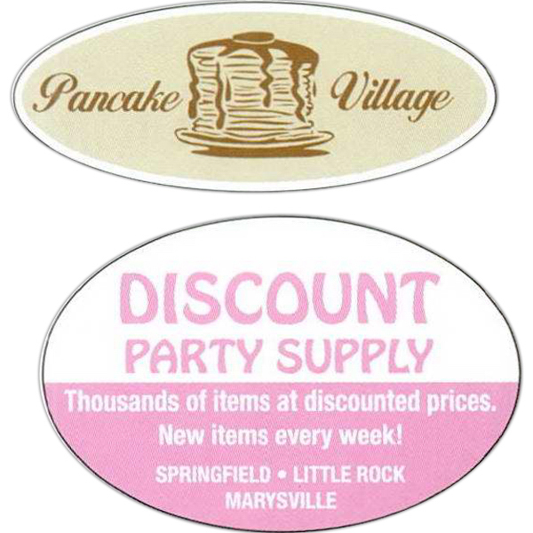 Personalized Oval Roll Labels
