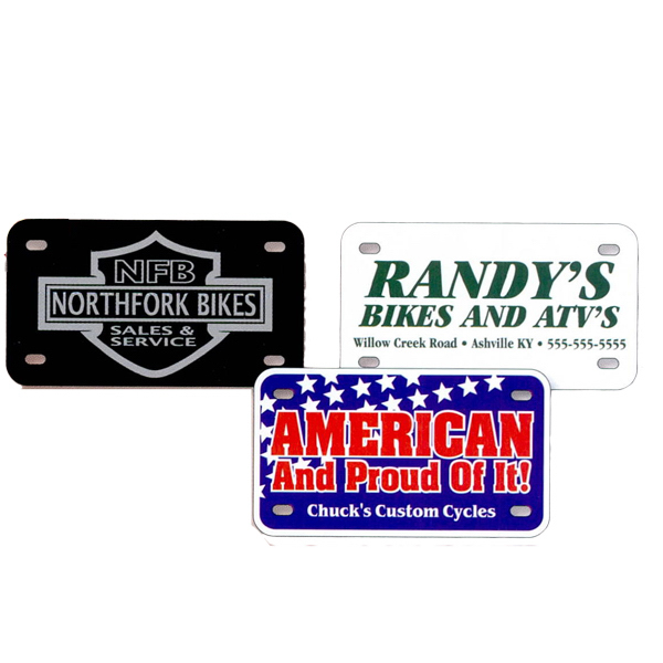 Printed Motorcycle License Plate
