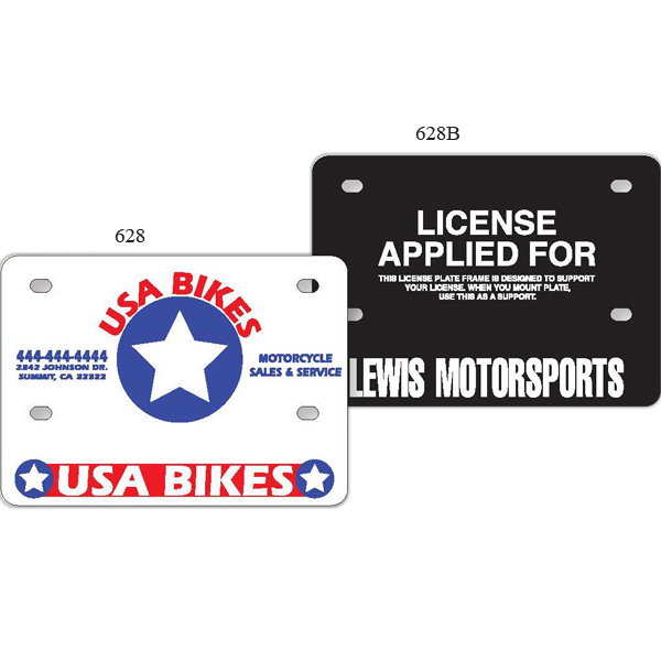 Personalized Motorcycle License Plate Support