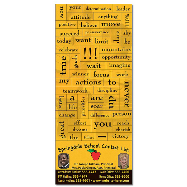 Customized School Magna-Phrase Magnet - 3.5x8.25/Business Card Magnet