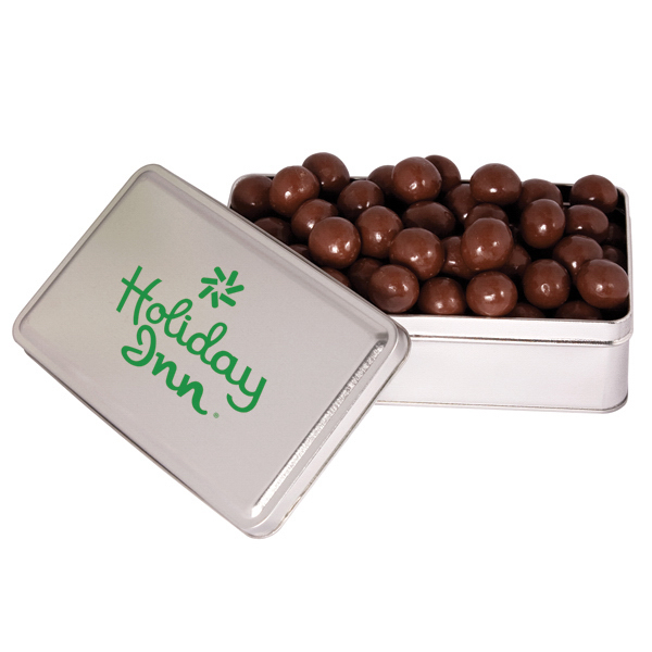 Personalized Imprinted Rectangle tin filled with delicious confections