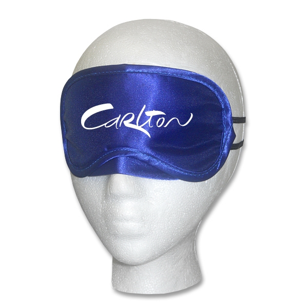 Customized Blue Satin Sleep Mask
