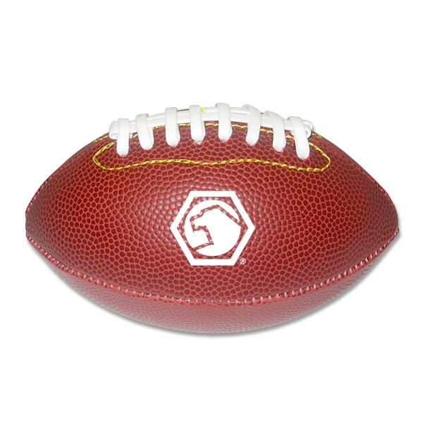 "Personalized 7"" leather like mini football"