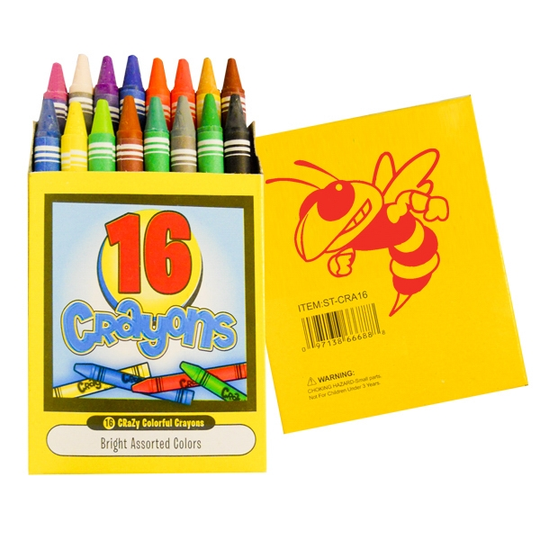Customized 16 pack quality crayons