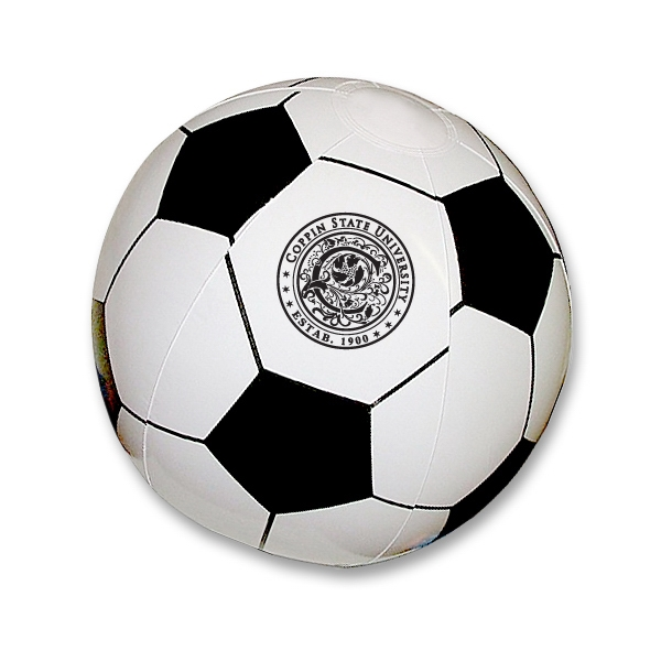 "Imprinted 16"" soccer beach ball"