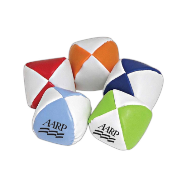 "Personalized 2"" Assorted color bean bag ball hacky sack"