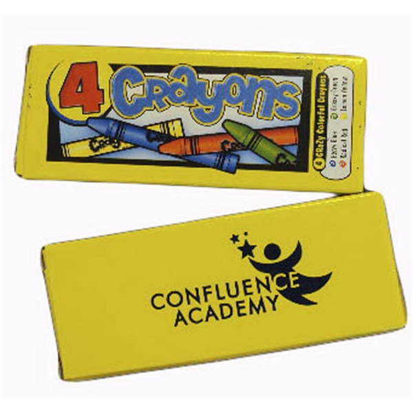 Customized 4 Pack Premium Crayons