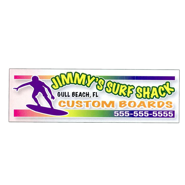 Printed 4-Color Process Clear Polyester Outdoor Decal
