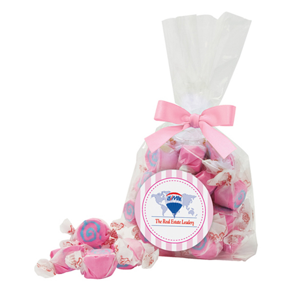 Customized Salt Water Taffy Candy in Mug Drop Gusset Bag
