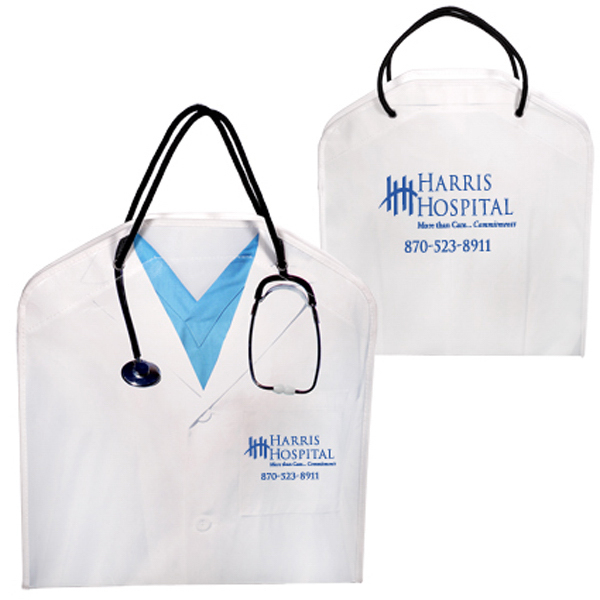 Promotional Doctor Tote with Lab Coat and Stethoscope Graphic