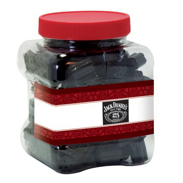 Custom Black Licorice Candy in resealable container