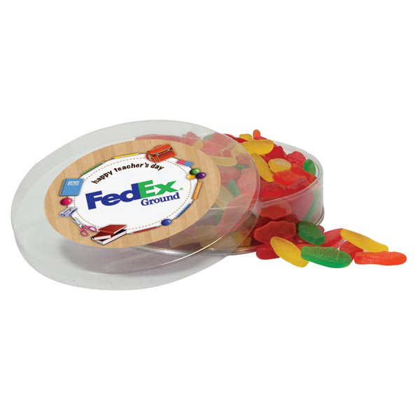 Printed Rainbow Delight Candy in acetate imprinted container
