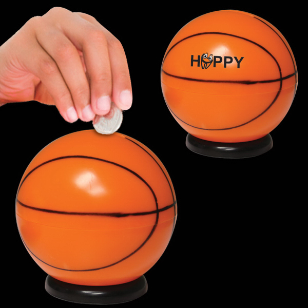"Custom 3 1/2"" Basketball Sports Bank"