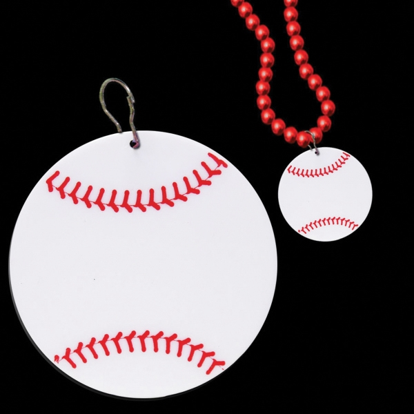 "Personalized Baseball 2 1/2"" Plastic badge Medallion"