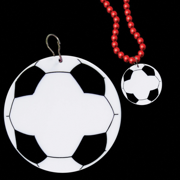 "Custom Soccer 2 1/2"" Plastic badge Medallion"