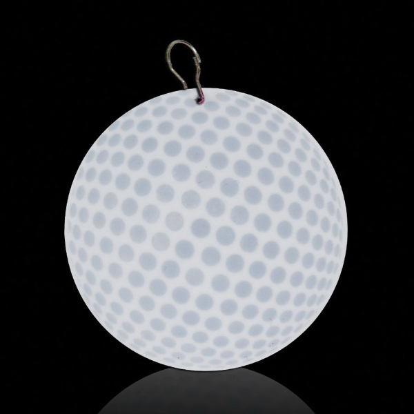"Imprinted Golf Ball 2 1/2"" Plastic badge Medallion"