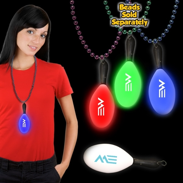 "Customized 7 1/2"" Light Up LED Maraca with attached j-hook medallion"