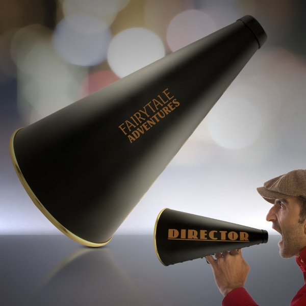"Personalized 13"" Director's Megaphone"