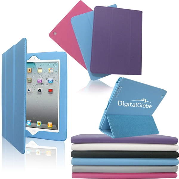Printed Leather Case/Stand for iPad 2/3/4