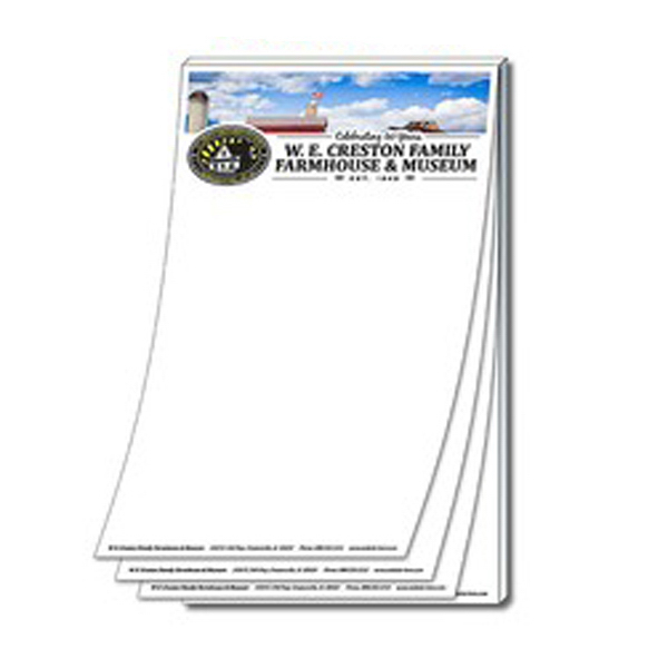 "Imprinted Stik-On (R) Adhesive notes 5"" x 8.5"" (25 sheets)"