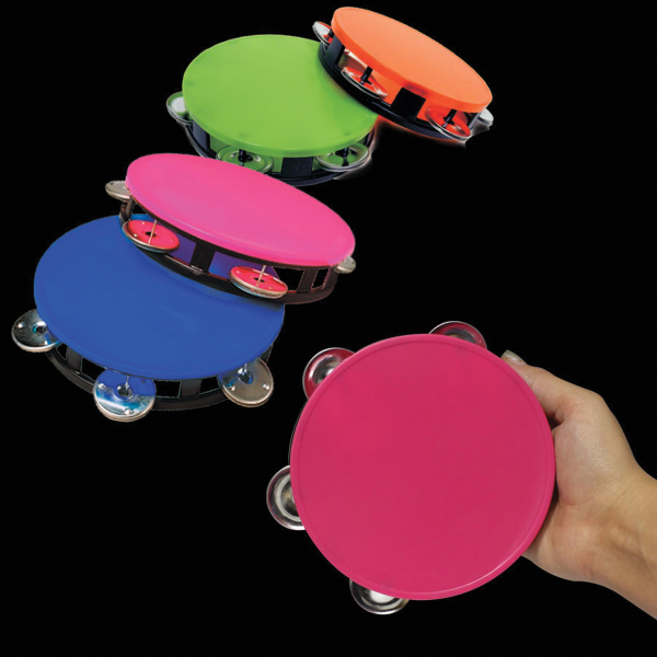 "Imprinted 5 1/2"" Colorful Tambourines"