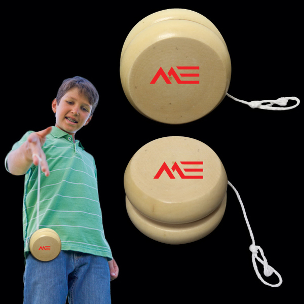 "Personalized 2 1/2"" Wooden Yoyo"