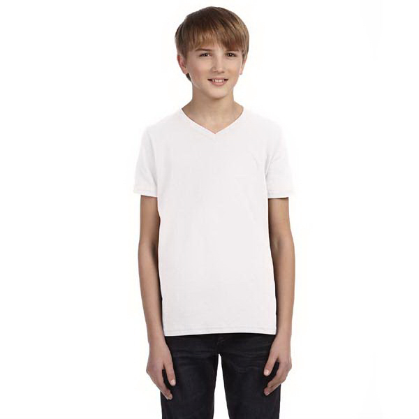 Promotional Bella & Canvas Youth Jersey V-neck T-shirt