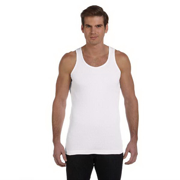 Imprinted Bella & Canvas Men's 2x1 Rib Tank
