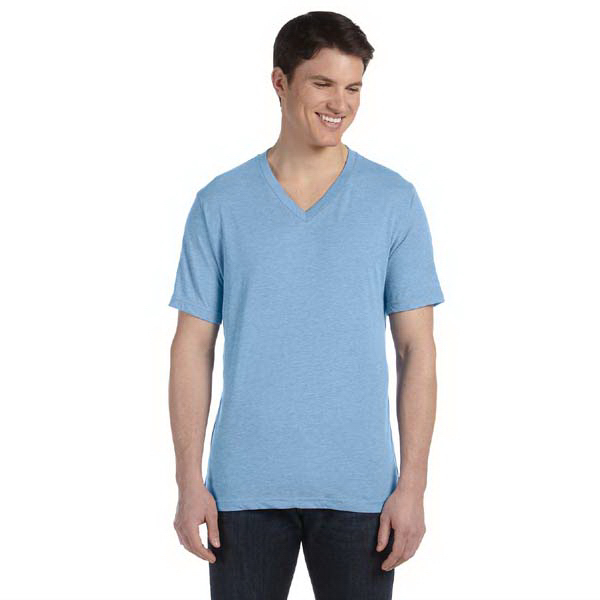 Imprinted Bella & Canvas Men's Triblend Short-sleeve V-neck T-Shirt