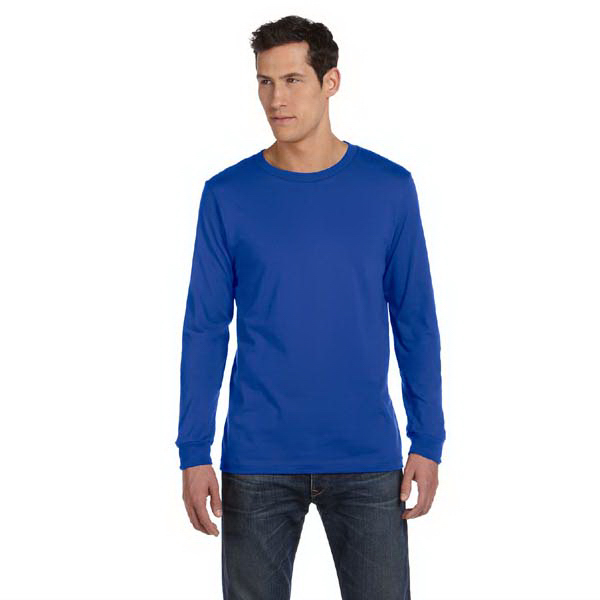 Printed Bella & Canvas Men's Jersey Llong-Sleeve T-shirt