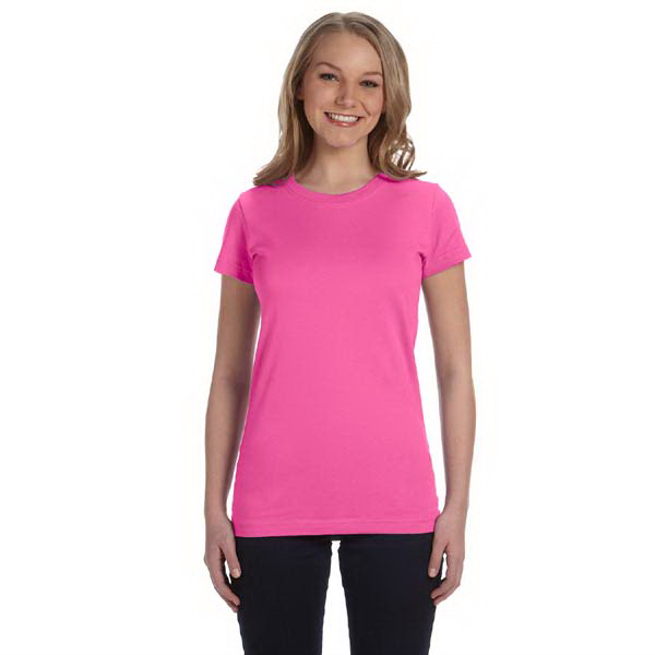 Personalized LAT Juniors' Fine Jersey Longer Length T-Shirt